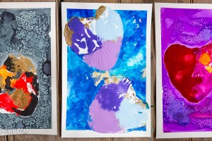 Cake Pan Prints Inspired by Art Workshop for Children by Bar Rucci