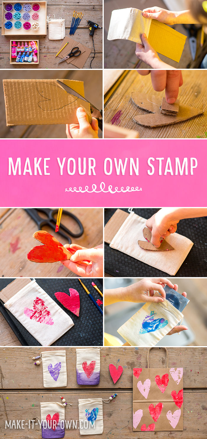 Make your own recycled stamp which you can use multiple times!
