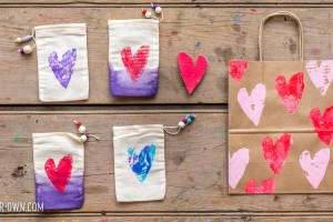 Make your own stamps out of this recyclable! Perfect for Valentine's favour bags, wrapping paper, cards or large art projects!
