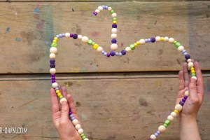 Beaded Heart Hanger: Use your fine motor skills to create this Valentine decoration!