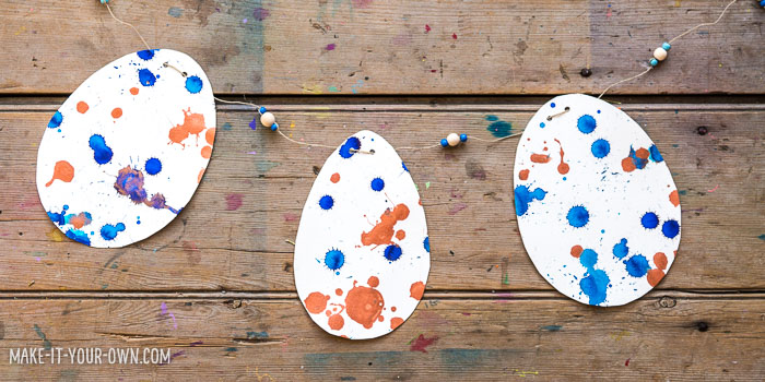 Drip Drop Speckled Eggs: Develop your find motor skills by using pipettes to create this Easter egg project!