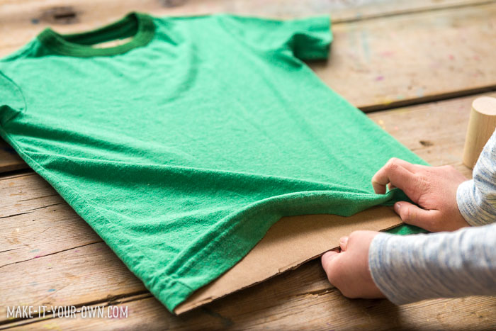 Last minute DIY St. Patrick's Day T-shirt for kids!  This easy DIY is a quick way to personalize a t-shirt or hide a stain on an existing shirt!