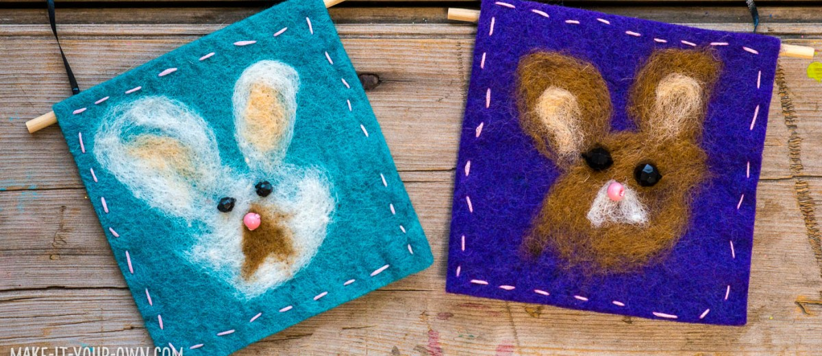 Create a felted animal portrait (we made a bunny which would be lovely for Easter!).