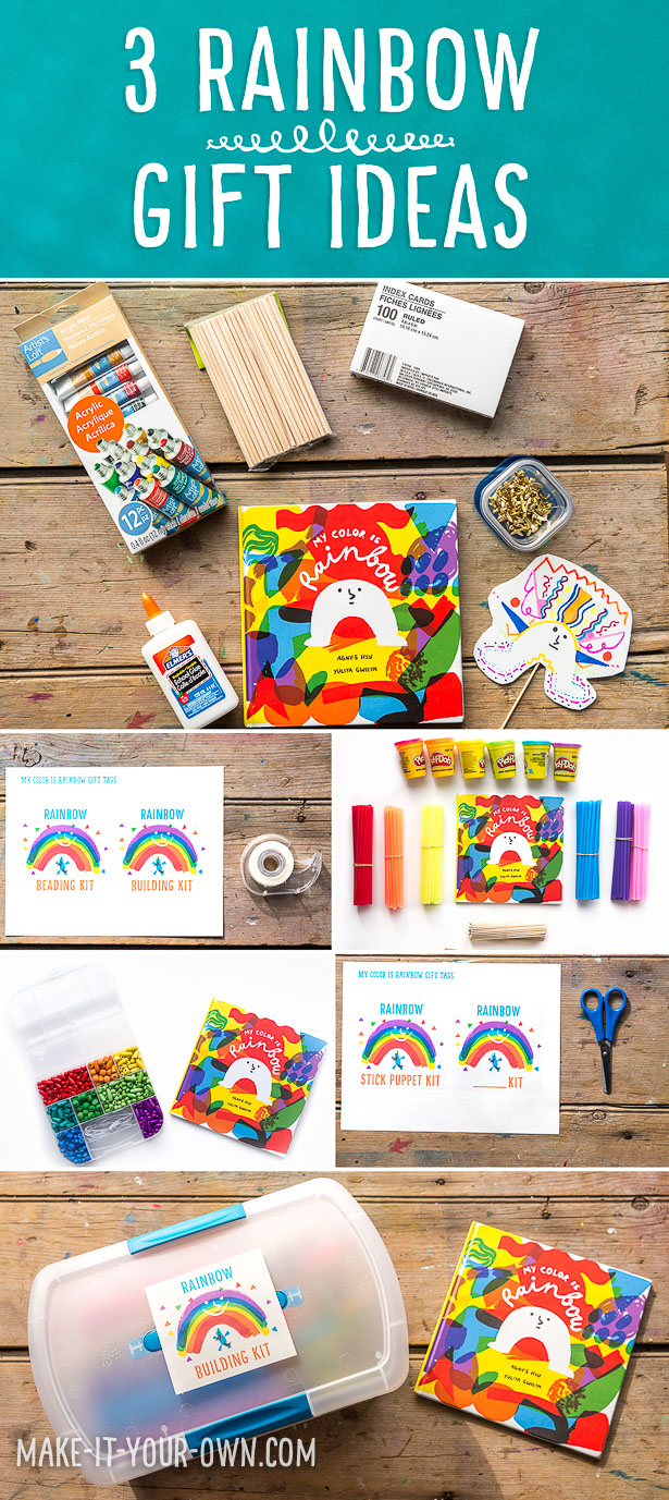 My Color is Rainbow: 3 Gift Ideas- Build, Bead and Create with these 3 ideas to go along with this beautiful book!