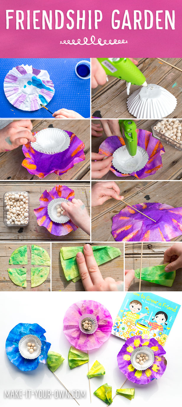 "Friendship Garden Kit:  Make this inexpensive kit to accompany the book, ""How to Grow a Friend"" by Sarah Gillingham!"