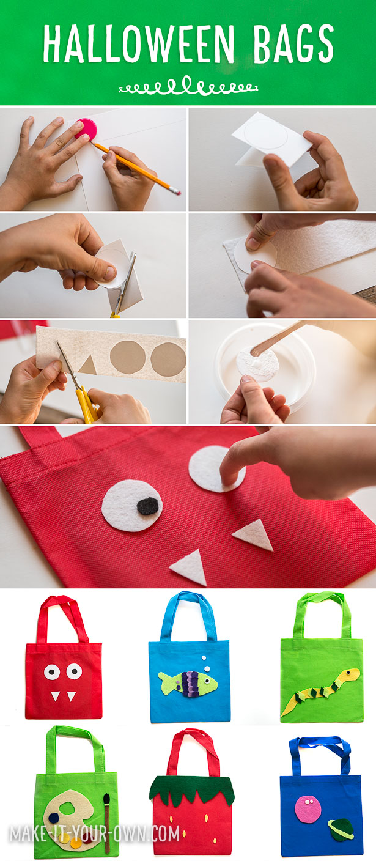 12 DIY Trick-or-Treat Halloween Bags!