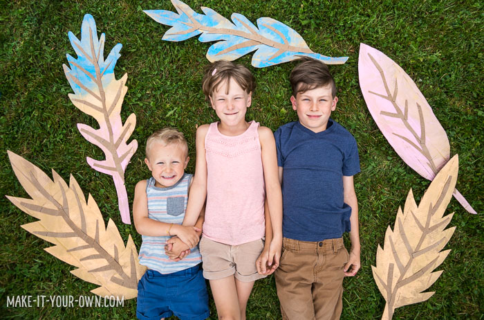 Decorate your fall festival, classroom or home inexpensively with these large cardboard leaves!