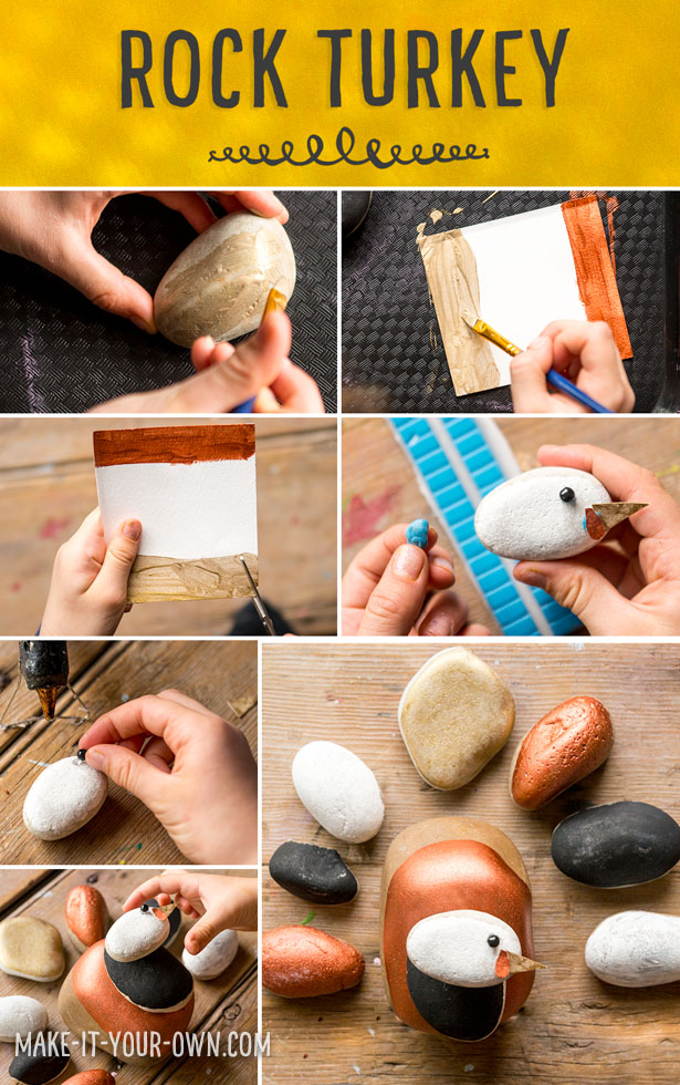Go out into nature, gather rocks and make this painted rock turkey!  Fun to make and play with!
