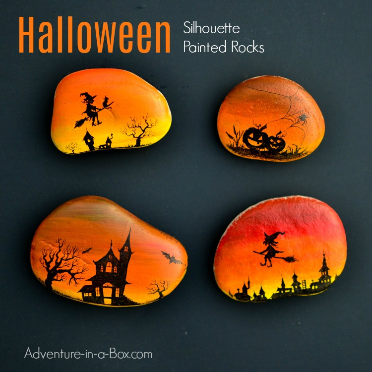 magical-halloween-silhouette-painted-rocks-fb