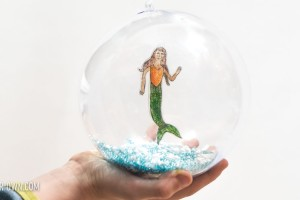 Shrink Art Mermaid Christmas Tree Ornament!
