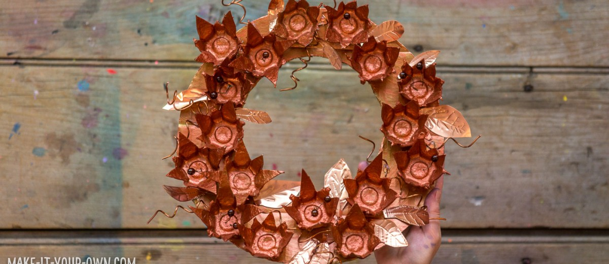 Recycled Metallic Wreath- perfect for the holidays: Thanksgiving & Christmas!
