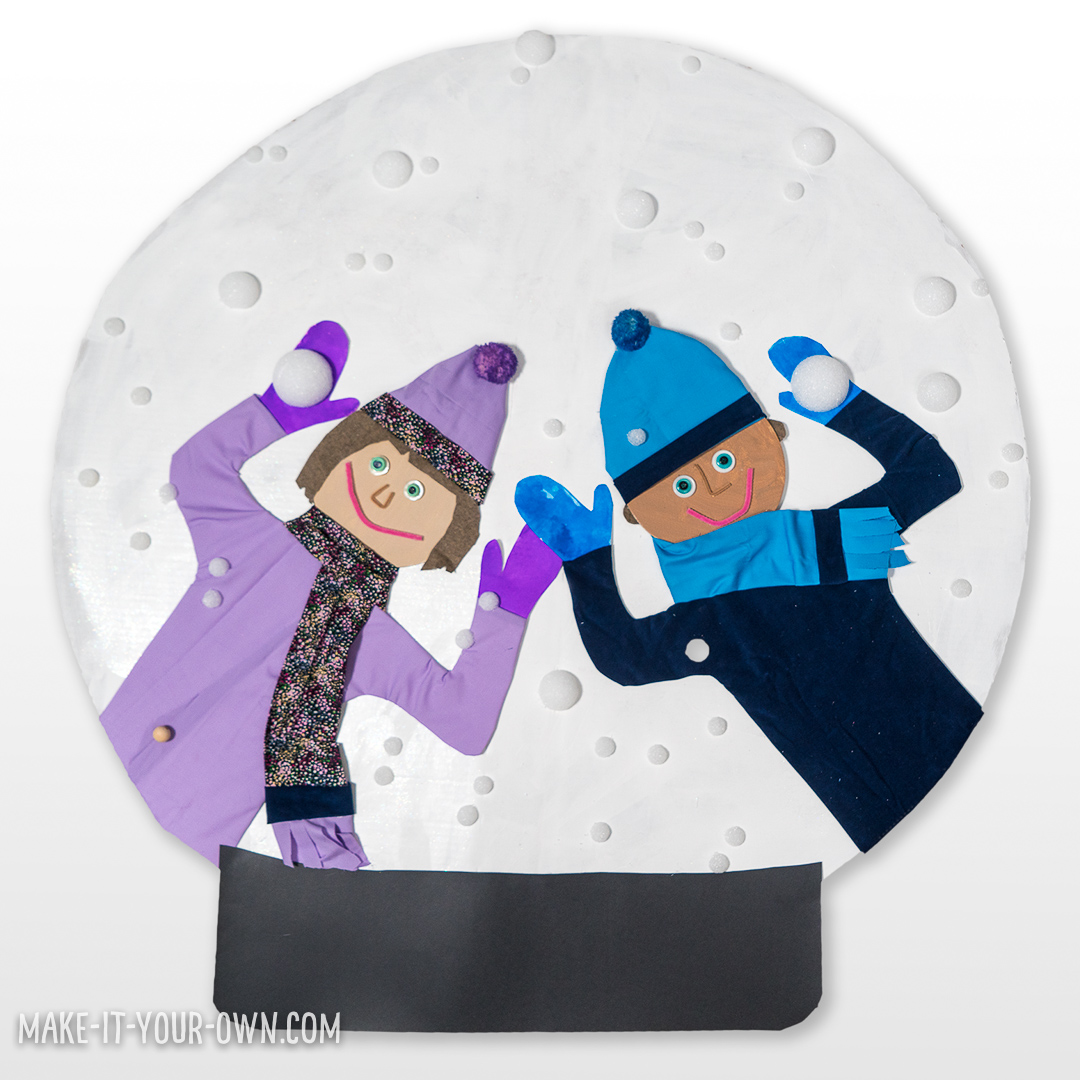 Make a Giant Snow Globe:  Trace your body and put yourself into a gigantic snow globe!