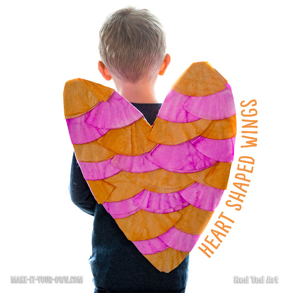 Make your own Heart Shaped Wings for Valentine's Day, using simple supplies you probably have at home! This imaginative play prop is perfect for young children!