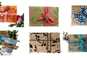 Kid-Made Wrapping Paper Ideas: Children can create their own holiday gift wrap to add a personalized touch to Christmas gifts!