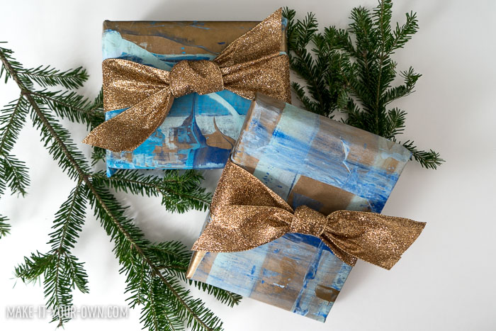 Kid-made Wrapping Paper ! Creative ideas to personalize your holiday or Christmas wrap!