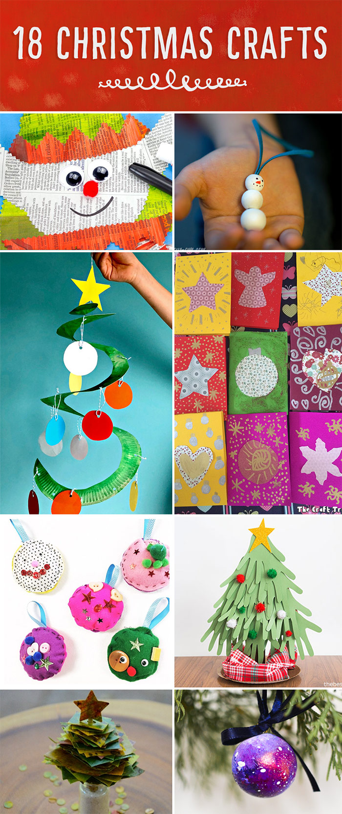 Christmassy Crafts!  Ornaments, cards and decorations: lots of creation ideas for you to make with your kids or students!