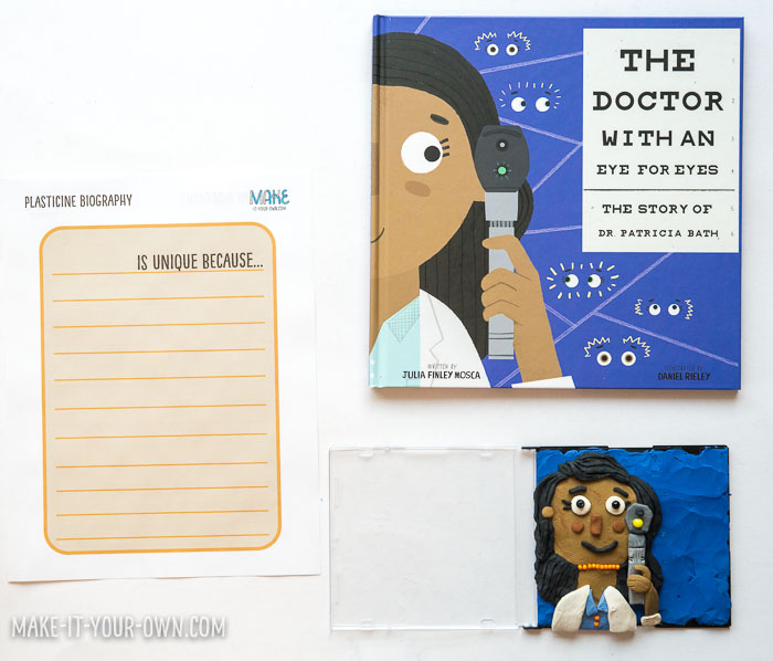 Plasticine Biographies: Create an important figure out of plasticine and then describe their life with our free printable!