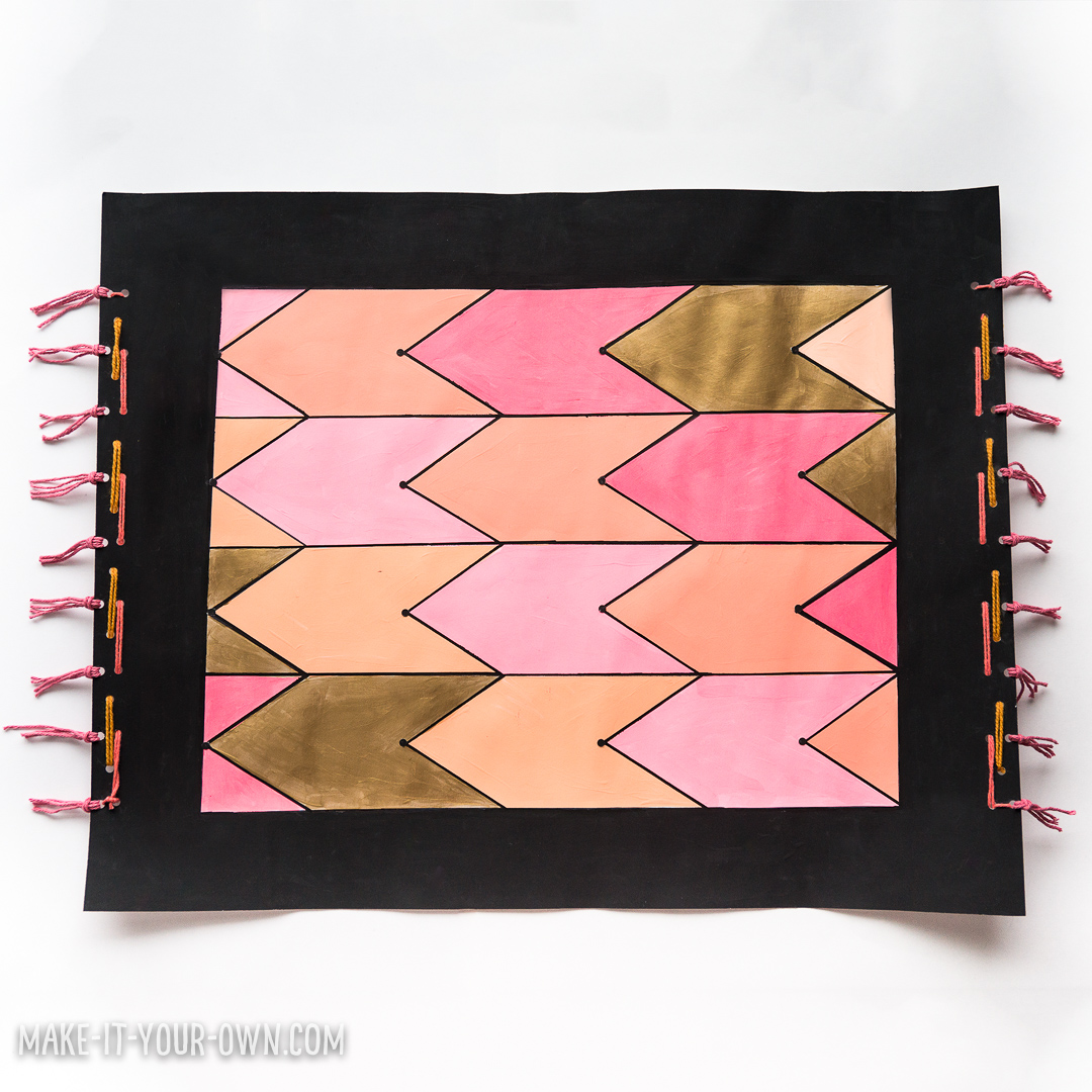"""This magic carpet project based on """"Mossby's Magic Carpet Handbook"""" uses transformational geometry by tessellating a shape to create a patterned carpet!"""