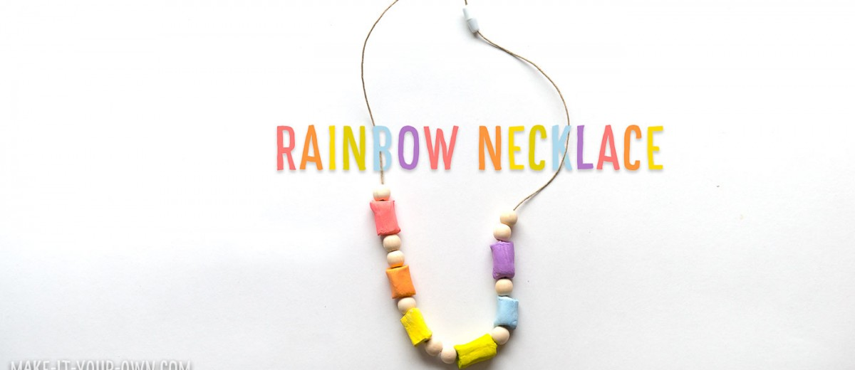 Rainbow Clay Necklace: Perfect for St. Patrick's Day!
