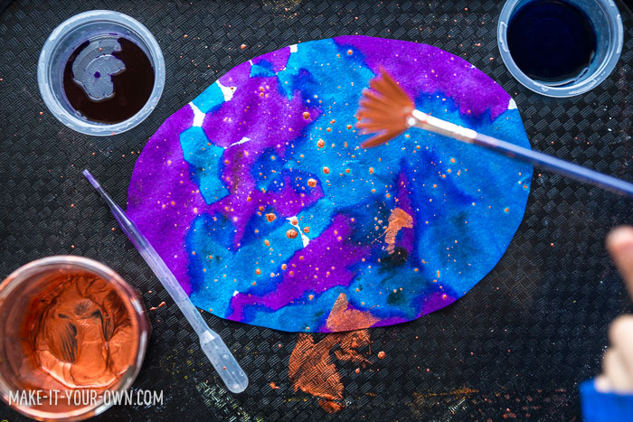 Children in Preschool, Kindergarten and School age will enjoy this painting activity which incorporates pipette painting and splatter painting to make an EASTER EGG GARLAND that would make a beautiful sun catcher!