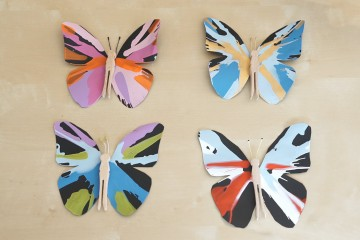 Spin Art Butterflies: Use centrifugal forces to create these beautiful painted butterflies!