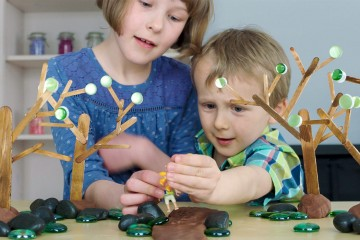Make 4 SEASONS TREES for small world play! Perfect for at home or in the classroom!