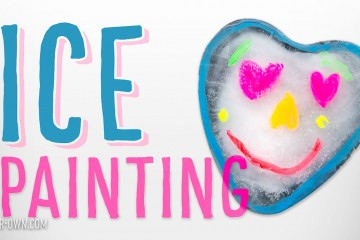 Ice painting using cake molds!