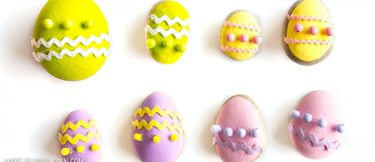 Rock Easter Egg Game: Find and Match the Attributes for the math game created with rocks!