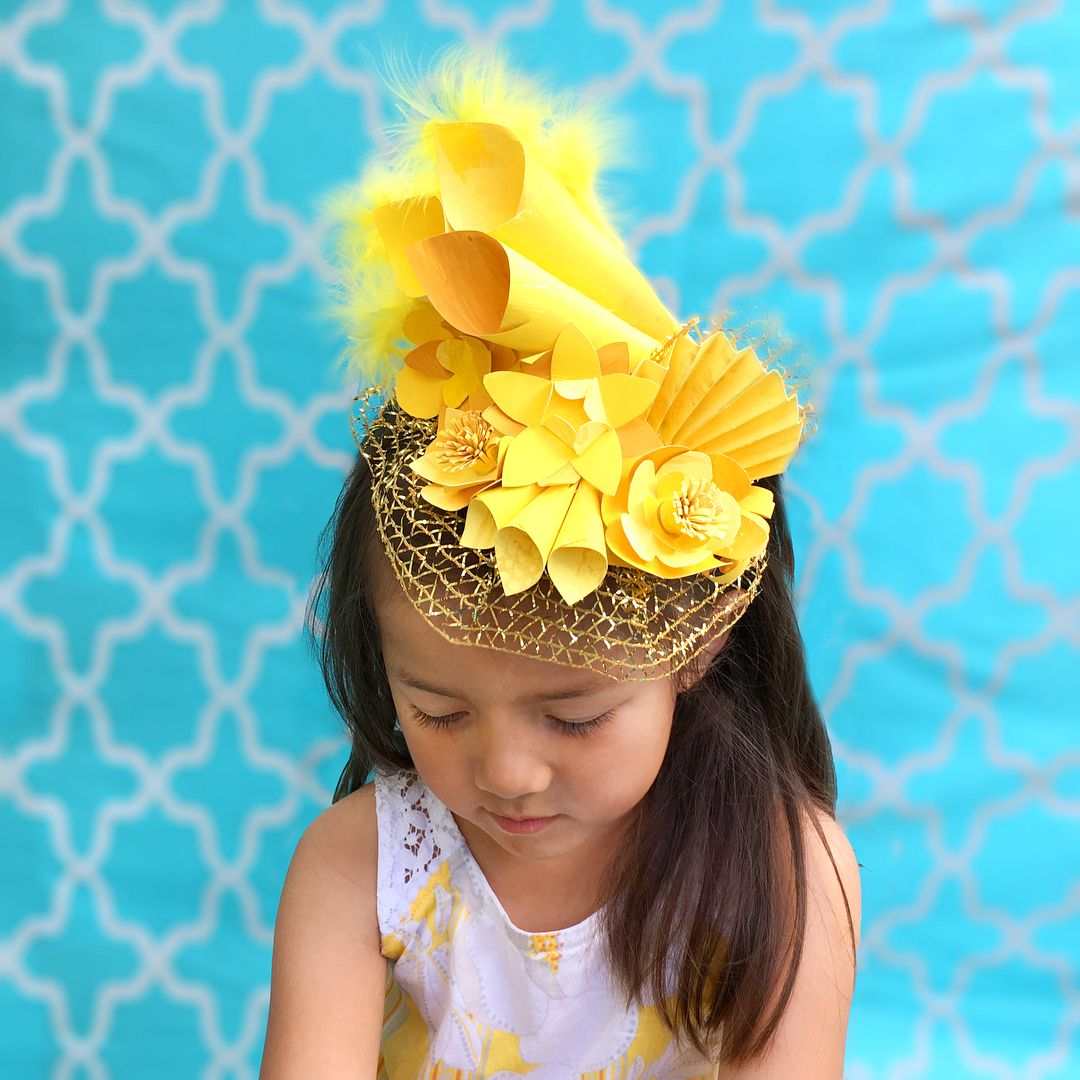 Upcycled Yellow Fascinator Creating Creatives