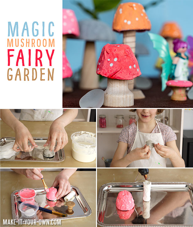 Recycle household materials to create these magical mushrooms for small world fairy play!