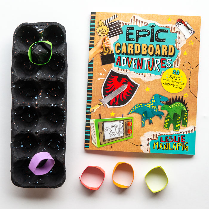 EPIC CARDBOARD ADVENTURES:  This project book shows you how to make different  craft ideas all using various types of cardboard.  It is inexpensive, reuses and is just plain fun!
