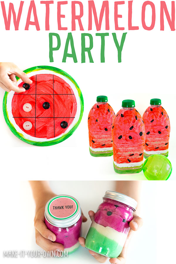 Watermelon Party Ideas:  Games, Activities and Favours for a Watermelon summer or birthday party!