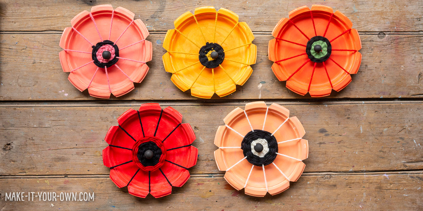187 Paper Plate Woven Poppies