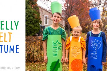 Make a Smelly Felt Costume for Halloween! This costume is inspired by Mr. Sketch markers!