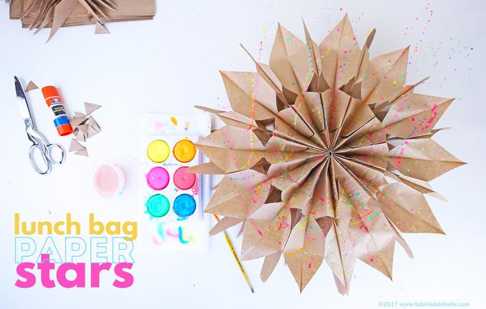 Paper Bag Stars from Babble Dabble Do