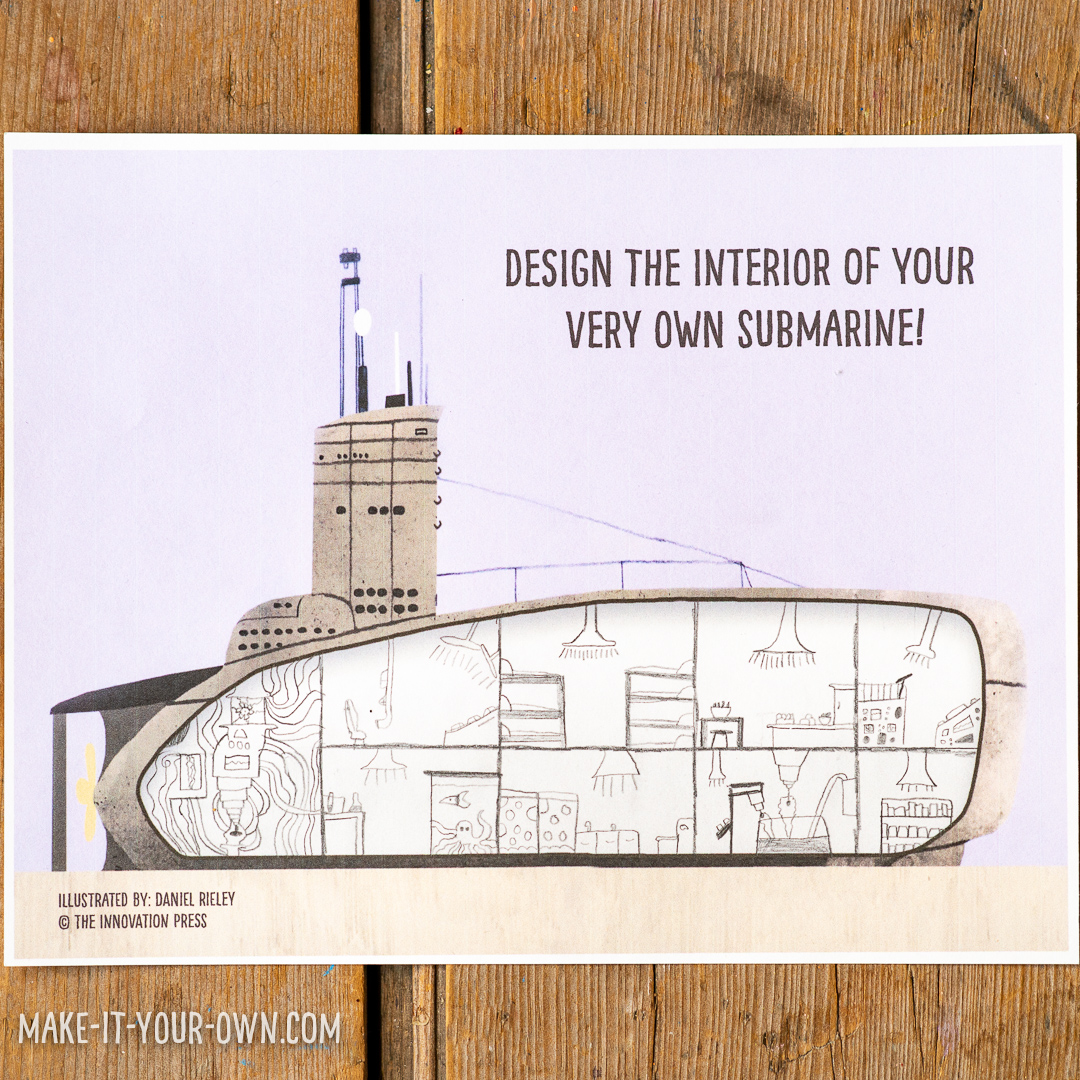 Design your own Submarine Interior:  Based on the book The Girl with a Mind for Math: The Story of Ray Montague