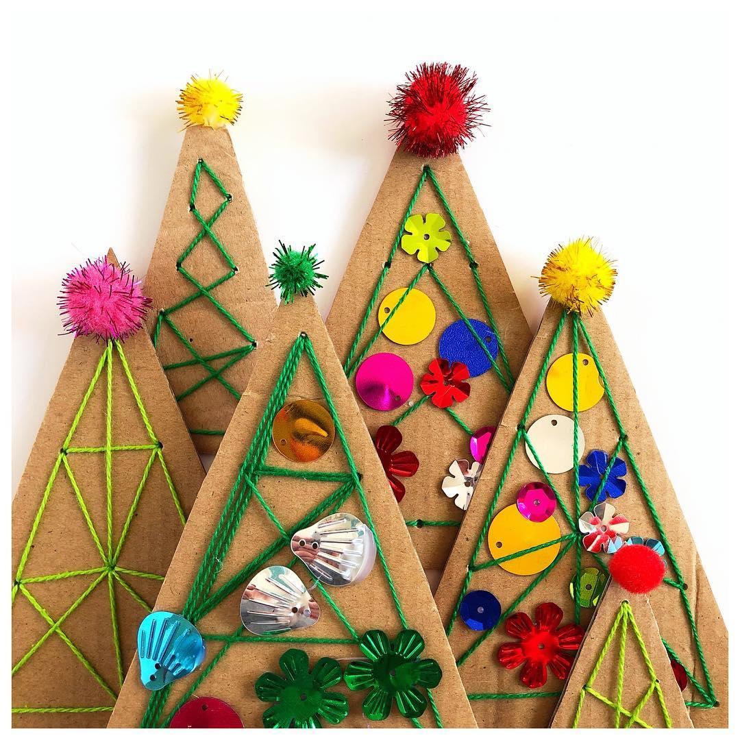 Sewn Christmas Trees from Cara Raising Kinley