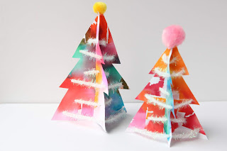 Painted 3-D trees from The Blue Barn