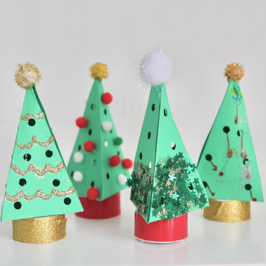 Light Up Christmas Trees from Little Button Diaries
