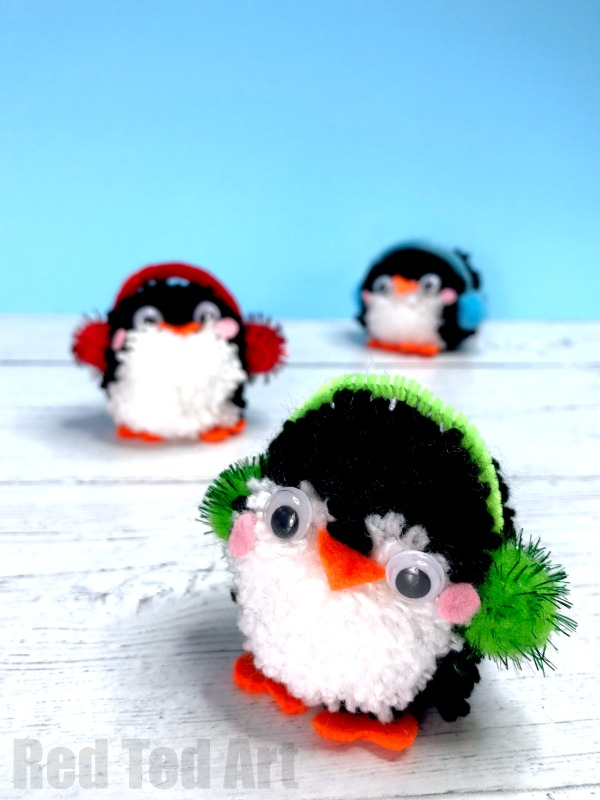 Pom Pom Penguins from Red Ted Art