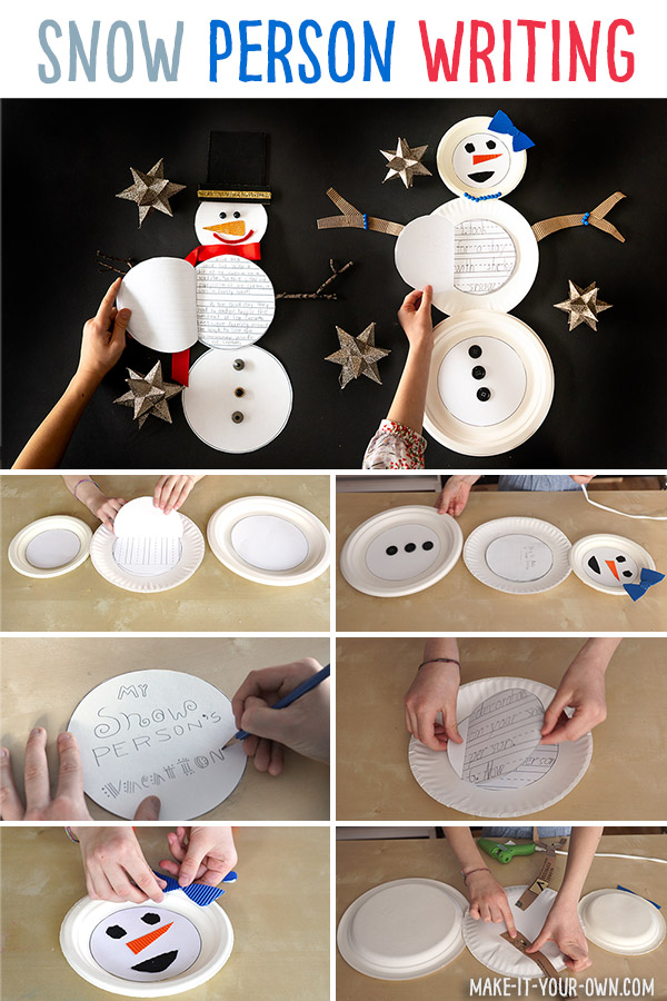 Use our free writing templates to create your own snowman or snow woman for you to decorate and personalize. You can use this winter craft activity for descriptive, procedural or narrative writing.
