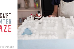 Snow Person Magnet Maze: Make this crafty science project where you move a snowman or snow woman through a wintery scene! This is a great idea for kids who want to learn more about STEAM (Science, Technology, Engineering, Art and Math)!