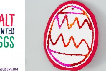 Salt Painted Easter Eggs: Explore warm and cool colours with this interesting painting technique that makes a beautiful Easter craft!