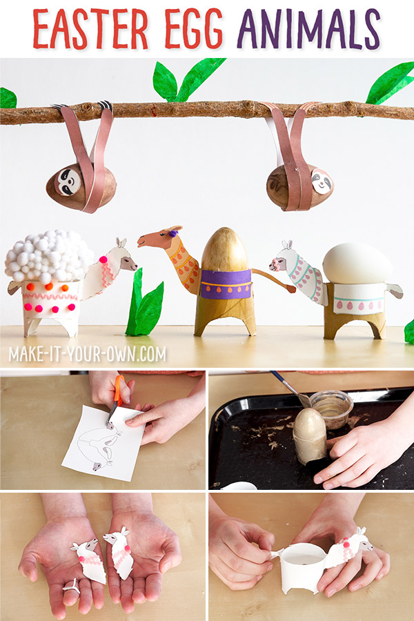 Dress up your eggs this year into these cute animals your friends and family will be sure to love! Make a llama, camel or sloth Easter egg (or all 3) with our free templates!  We'd love to see your photos if you try out this craft!