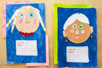 Eric Carle Inspired Mother's Day Collage Portraits: We show you how to create the appearance of textured paper and then create a portrait of your Mother, Grandma, Aunt or special female in your life. Our free printable allows you to write a special, personal message about what you admire and appreciate about your mom, aunt etc.