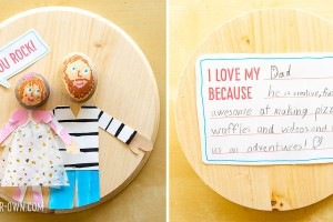 Father's Day Portraits: Combining rocks and collage, this project that we made For Red Ted Art's 31 Days of Dad. It includes 2 free printables!