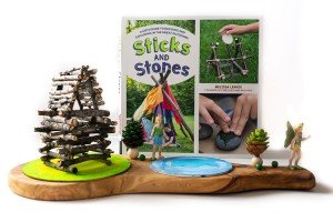 Sticks and Stones Book Review: If your kids like getting out and creating with nature, this is an amazing resource! It would be perfect for Forest School as well!