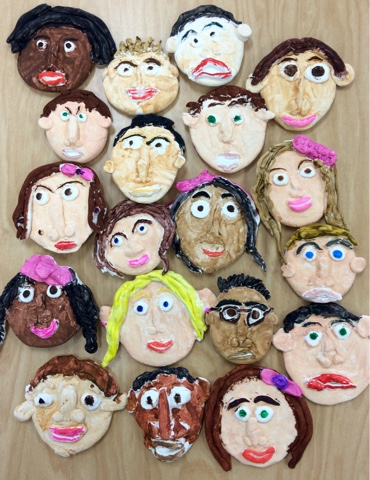Art With Mr. Giannetto: Clay Faces