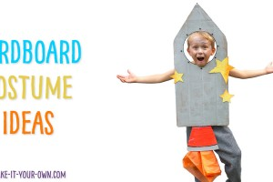 8 Cardboard Halloween Costume Ideas for Kids! We show you several ideas for making recycled costumes that mainly only use cardboard, recyclables and paint! A rocket ship, paper and pencil, gum stuck to a shoe, a watering can and plant, a birthday cake etc.! #recycledcostumes #recycledhalloweencostumes #diycostumes #cardboardcostumes #cardboardhalloweencostumes #kidshalloweencostumes