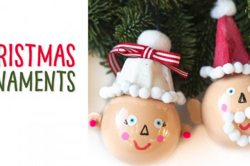 Kids can make these handmade holiday ornaments to hang on their Christmas tree! Transform a clear bauble ornament with a egg carton and some pom poms into these adorable elves, Santa and Mrs. Claus! This DIY Christmas craft is sure to make people smile! #Christmasornament #santaornament #Mrs.clausornament #elfornament #holidayornament #diychristmas #holidaydiy #ornament #christmascraft #wintercraft #recycledcraft #eggcartoncraft #pompomcraft #craftproject #crafttutorial #christmasproject #christmastutorial